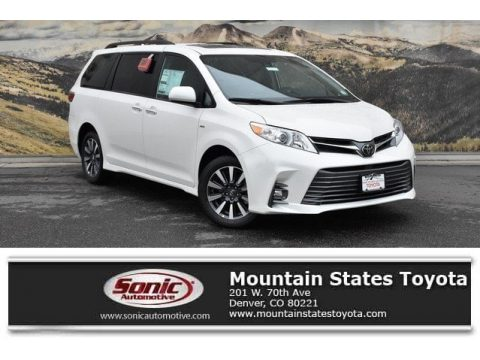 Blizzard White Pearl Toyota Sienna XLE AWD.  Click to enlarge.