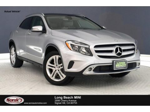Polar Silver Metallic Mercedes-Benz GLA 250.  Click to enlarge.