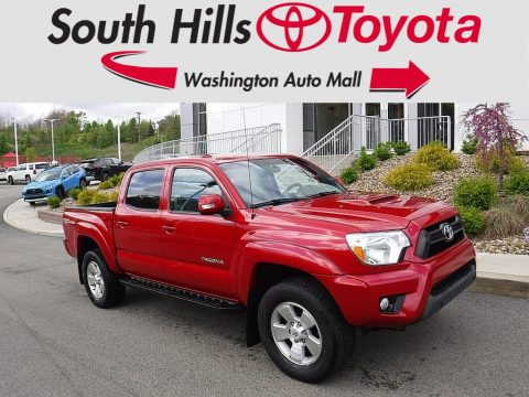 Barcelona Red Metallic Toyota Tacoma V6 TRD Sport Double Cab 4x4.  Click to enlarge.