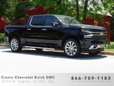 Black Chevrolet Silverado 1500 High Country Crew Cab 4WD.  Click to enlarge.