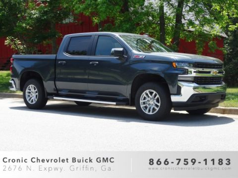 Shadow Gray Metallic Chevrolet Silverado 1500 LT Z71 Crew Cab 4WD.  Click to enlarge.