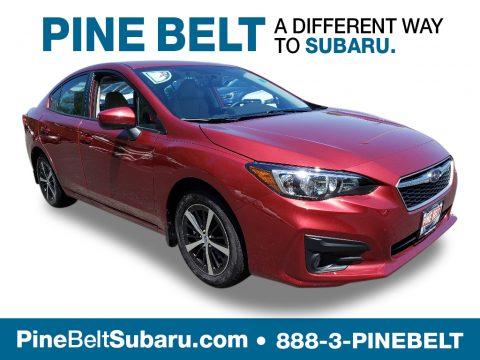 Crimson Red Pearl Subaru Impreza 2.0i Premium 4-Door.  Click to enlarge.