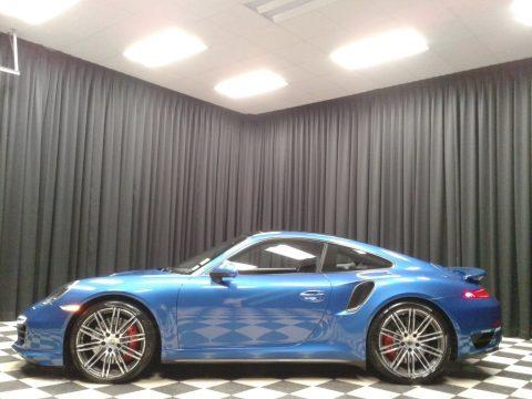 Sapphire Blue Metallic Porsche 911 Turbo Coupe.  Click to enlarge.