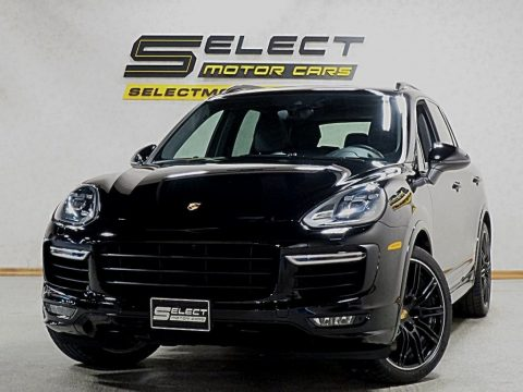 Black Porsche Cayenne Turbo.  Click to enlarge.
