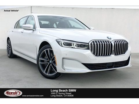 Mineral White Metallic BMW 7 Series 750i xDrive Sedan.  Click to enlarge.