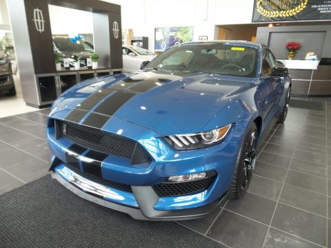 Performance Blue Ford Mustang Shelby GT350.  Click to enlarge.