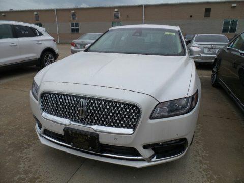 White Platinum Metallic Tri-Coat Lincoln Continental FWD.  Click to enlarge.
