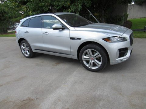 Indus Silver Metallic Jaguar F-PACE R-Sport AWD.  Click to enlarge.
