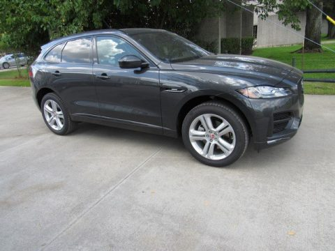 Carpathian Grey Metallic Jaguar F-PACE R-Sport AWD.  Click to enlarge.