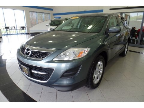 Dolphin Gray Mica Mazda CX-9 Touring AWD.  Click to enlarge.