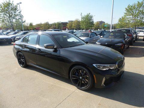 Black Sapphire Metallic BMW 3 Series M340i xDrive Sedan.  Click to enlarge.