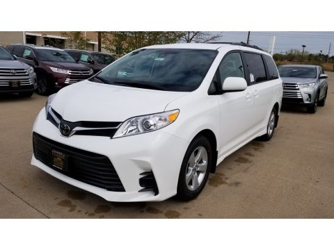 Super White Toyota Sienna LE.  Click to enlarge.