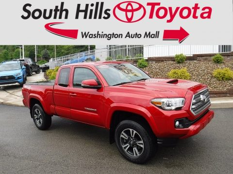Barcelona Red Metallic Toyota Tacoma TRD Sport Access Cab 4x4.  Click to enlarge.