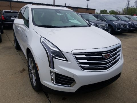 Crystal White Tricoat Cadillac XT5 Premium Luxury AWD.  Click to enlarge.