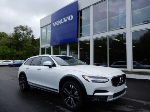 Crystal White Metallic Volvo V90 Cross Country T5 AWD.  Click to enlarge.