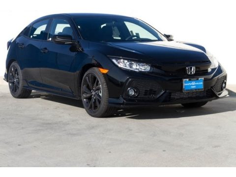 Crystal Black Pearl Honda Civic Sport Hatchback.  Click to enlarge.