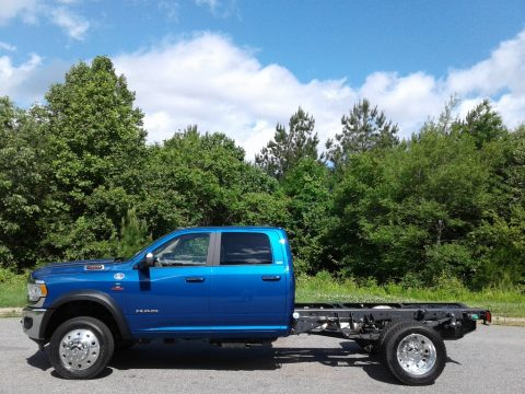 Blue Streak Pearl Ram 4500 SLT Crew Cab 4x4 Chassis.  Click to enlarge.