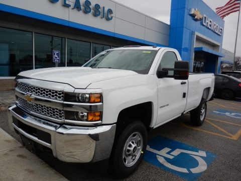 Summit White Chevrolet Silverado 2500HD Work Truck Regular Cab 4WD.  Click to enlarge.