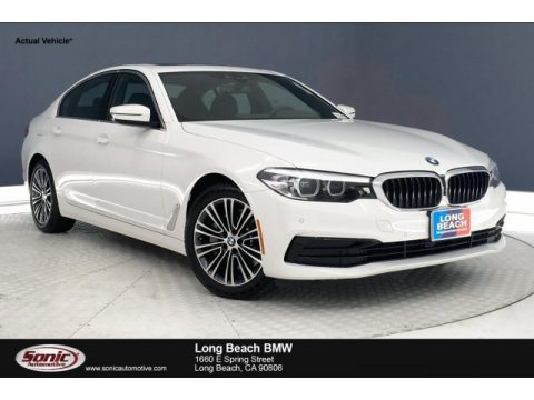 Alpine White BMW 5 Series 530i Sedan.  Click to enlarge.