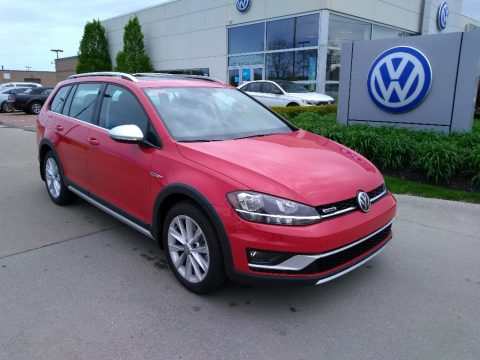 Tornado Red Volkswagen Golf Alltrack SE 4Motion.  Click to enlarge.