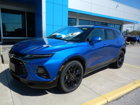 Kinetic Blue Metallic Chevrolet Blazer RS AWD.  Click to enlarge.
