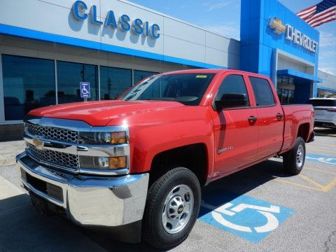Red Hot Chevrolet Silverado 2500HD Work Truck Crew Cab 4WD.  Click to enlarge.