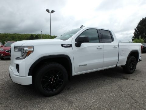 Summit White GMC Sierra 1500 Elevation Double Cab 4WD.  Click to enlarge.