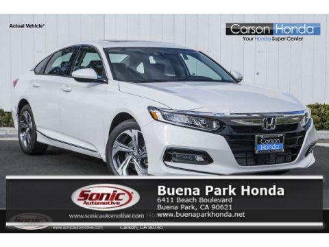 Platinum White Pearl Honda Accord EX-L Sedan.  Click to enlarge.