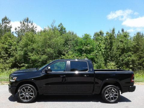Diamond Black Crystal Pearl Ram 1500 Laramie Crew Cab 4x4.  Click to enlarge.