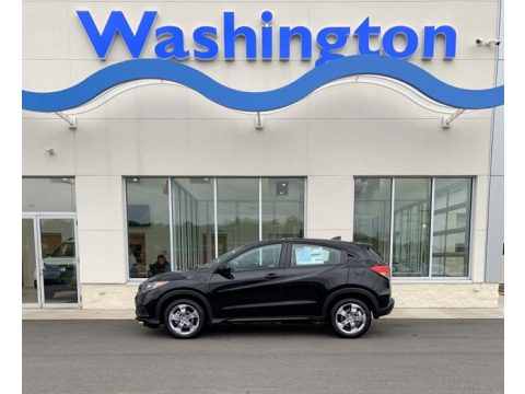 Crystal Black Pearl Honda HR-V LX AWD.  Click to enlarge.