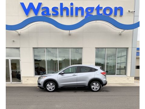 Lunar Silver Metallic Honda HR-V EX-L AWD.  Click to enlarge.