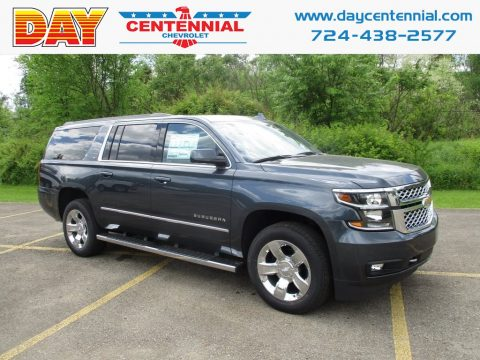 Satin Steel Metallic Chevrolet Suburban LT 4WD.  Click to enlarge.