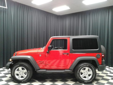 Firecracker Red Jeep Wrangler Sport.  Click to enlarge.