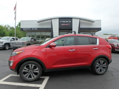 Signal Red Kia Sportage EX AWD.  Click to enlarge.