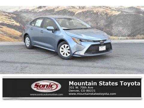Celestite Gray Metallic Toyota Corolla L.  Click to enlarge.