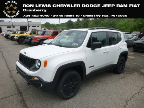 Alpine White Jeep Renegade Sport 4x4.  Click to enlarge.