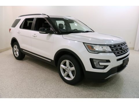 White Platinum Metallic Tri-Coat Ford Explorer XLT 4WD.  Click to enlarge.