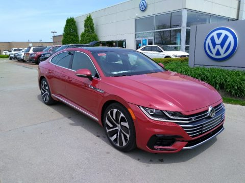 Chili Red Metallic Volkswagen Arteon SEL R-Line 4Motion.  Click to enlarge.
