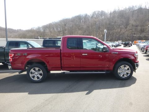 Ruby Red Ford F150 XLT SuperCab 4x4.  Click to enlarge.