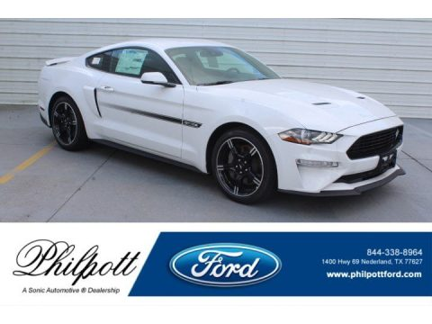 Oxford White Ford Mustang California Special Fastback.  Click to enlarge.