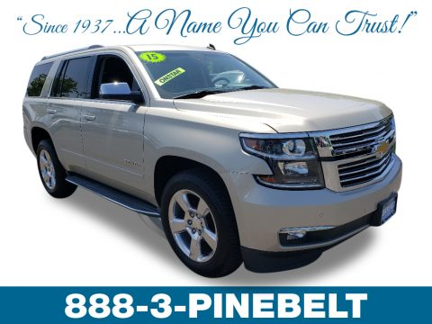 Champagne Silver Metallic Chevrolet Tahoe LTZ 4WD.  Click to enlarge.