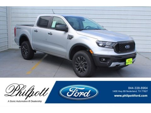 Ingot Silver Metallic Ford Ranger XLT SuperCab.  Click to enlarge.