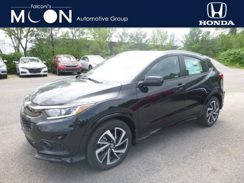 Crystal Black Pearl Honda HR-V Sport AWD.  Click to enlarge.