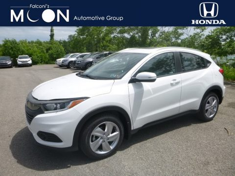Platinum White Pearl Honda HR-V EX-L AWD.  Click to enlarge.
