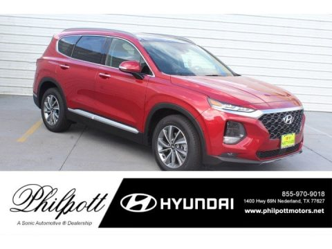 Scarlet Red Hyundai Santa Fe Limited.  Click to enlarge.