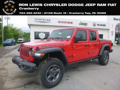 Firecracker Red Jeep Gladiator Rubicon 4x4.  Click to enlarge.