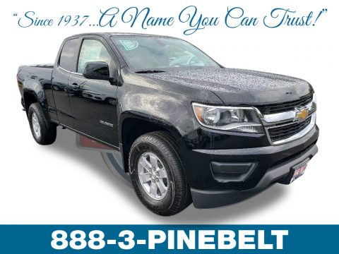 Black Chevrolet Colorado WT Extended Cab.  Click to enlarge.