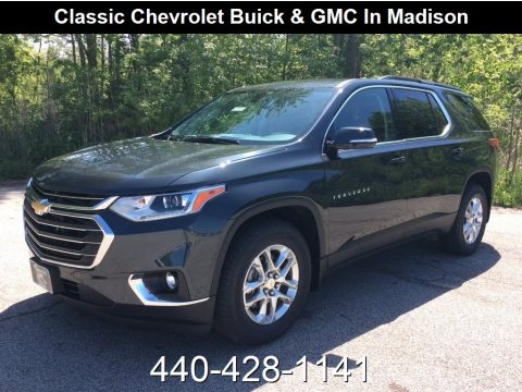 Graphite Metallic Chevrolet Traverse LT AWD.  Click to enlarge.