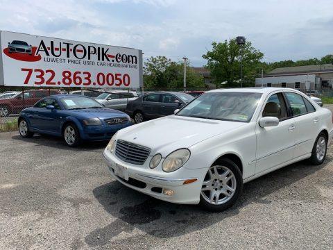 Alabaster White Mercedes-Benz E 320 Sedan.  Click to enlarge.