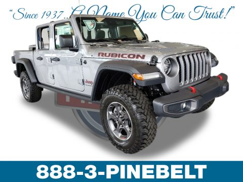 Billet Silver Metallic Jeep Gladiator Rubicon 4x4.  Click to enlarge.